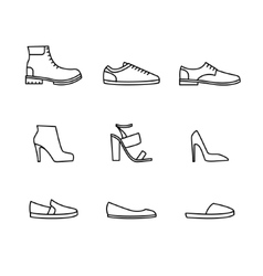Shoes icon set vector