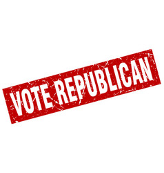 Square grunge red vote republican stamp vector