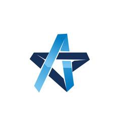 Star modern logo design template vector