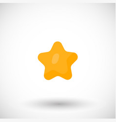 star rating symbol flat icon vector image