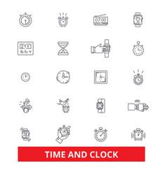 Time clock punch management watchcalendar vector