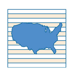 United states map silhouette vector