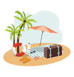 Vacation and travel 3d vector