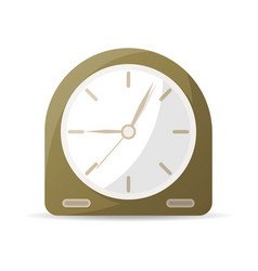Vintage analog clock icon vector