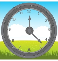 Watch on background of the nature vector image