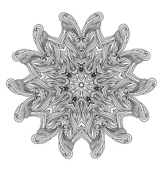 Wave style mandala for coloring book Decorative vector