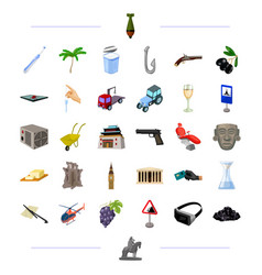 Weapons travel technology and other web icon in vector