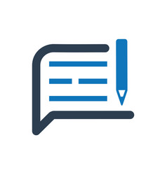 Write a note icon vector