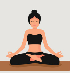 Young attractive woman practicing yoga vector