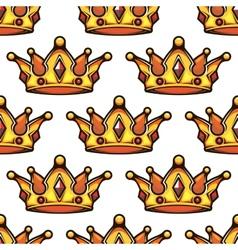 Cartoon emperor crowns seamless pattern vector image