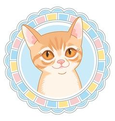 cartoon little cat vector image