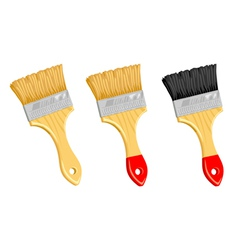 Clean paint brush on white background vector image