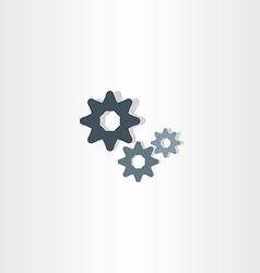cogs icon gears symbol design element vector image vector image