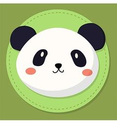 Cute Panda Head Cartoon vector image vector image