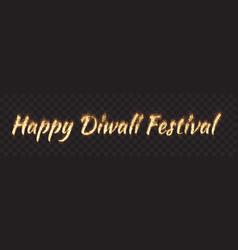 happy diwali festival text banner vector image