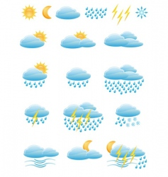 icons of weather vector image