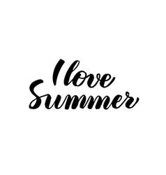 love summer handwritten calligraphy vector image