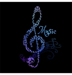 Musical Notes Abstract Background vector image vector image