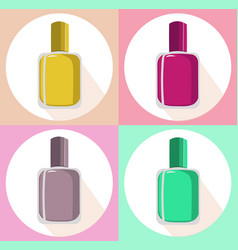 nail polish set icon template colorful vector image