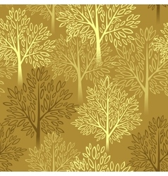 Fall season background Autumn tree seamless vector image
