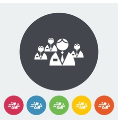 Network flat icon vector image vector image