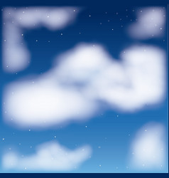 Nightly background with cloud cumulus and starry vector