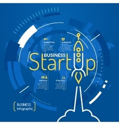 Start up business infographics vector