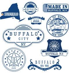 Buffalo city New York vector image vector image