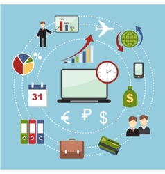 education start up banking concept vector image