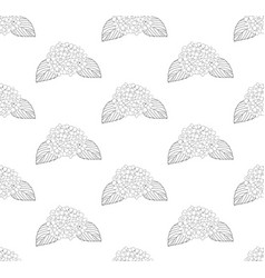 hydrangea flower seamless on white background vector image vector image