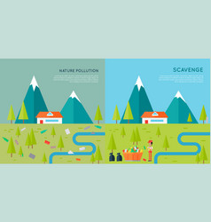 nature pollution and scavenge concept vector image vector image