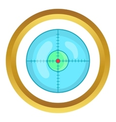 Optical sight icon vector image vector image