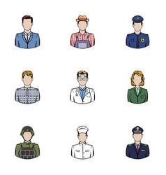 work icons set cartoon style vector image