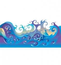 cartoon waves background vector image