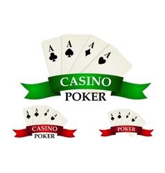 Casino gambling symbols and signs vector image vector image