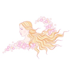 floral beauty wave vector image vector image