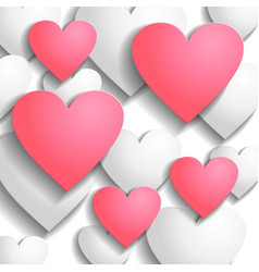 heart back pink vector image vector image