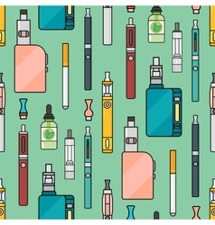 Vaping seamless pattern vector image