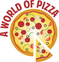 World Of Pizza vector image vector image