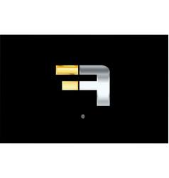 A silver gold letter alphabet logo icon design vector