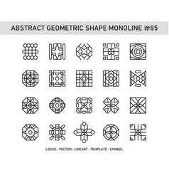 Abstract geometric shape monoline 85 vector