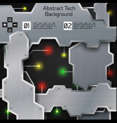 Abstract tech digital infographic concept vector