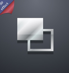 Active color toolbar icon symbol 3D style Trendy vector