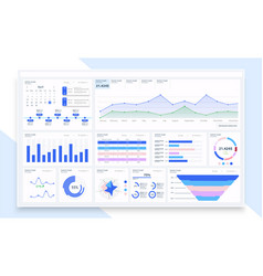 admin dashboard ui ux gui great design for any vector image