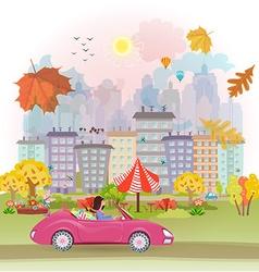 Autumn cityscape vector image