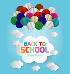 back to school banner background origam vector image