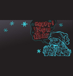 bad santa happy new year vector image