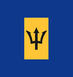 barbados flag icon in flat style national sign vector image