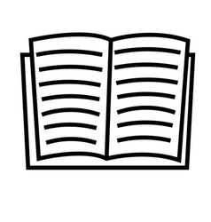 book line icon vector image