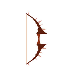 bow game arrow icon medieval weapon set rpg vector image